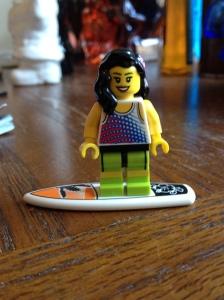 Lego surfer girl