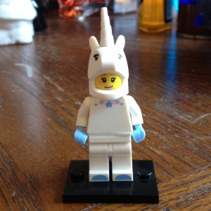 Unicorn Lego lady