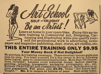 vintage artist ad